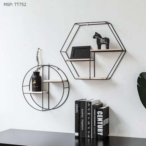 Kệ sắt treo tường hình lục giác - Ngân Hà Decor