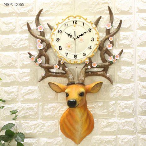 Đồng hồ treo tường hình Tuần lộc