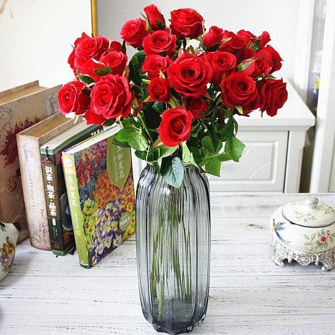 Cụm 5 bông hồng lụa