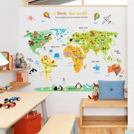 Decal bản đồ thế giới số 2