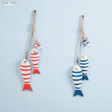 Đôi cá gỗ treo trang trí số 1