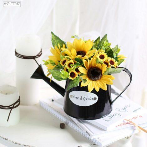 Bình hoa hướng dương (có tay cầm)