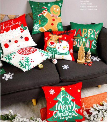 Vỏ gối Giáng sinh sắc màu